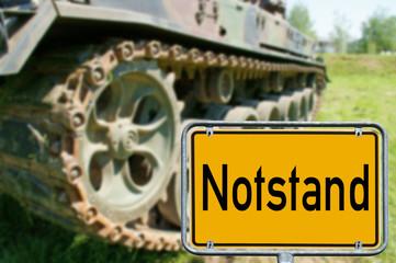 Panzer und Schild - Notstand