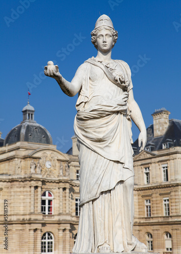 Minerva statue at the French Senate in Paris