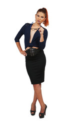 elegant business woman in stylish costume