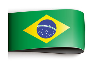 vector product label flag brasilia