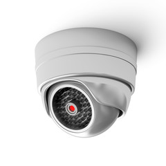 Modern Security Camera isolated on white background