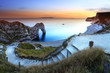 Durdle Door Sunset Dorset England
