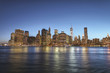 Manhattan Skylin by night with beautiful sky.