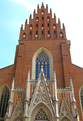 Historical church in city Cracow, Poland