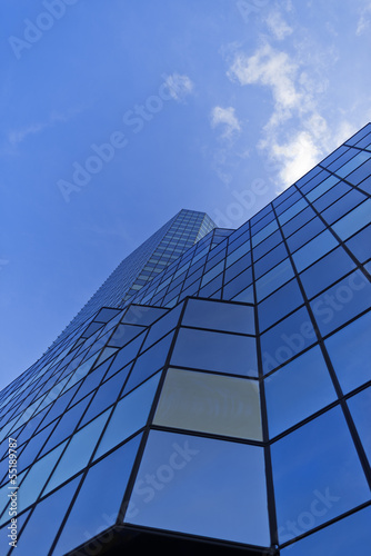 High glass building