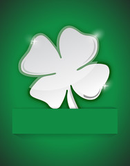 saint Patricks clover illustration design