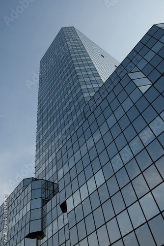 Gray glass office building