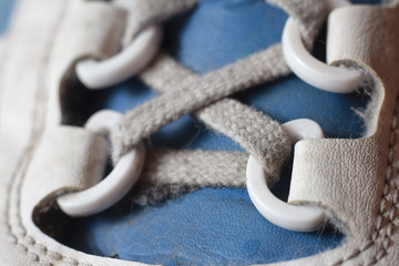 Close-up of a shoelace