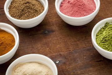 super fruit and leaf powders