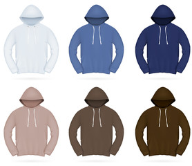 Plain training hoodie template.
