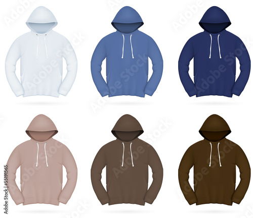 Plain training hoodie template.