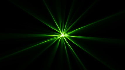 Green star background light LOOP