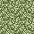 Seamless floral green pattern. Vector illustration.