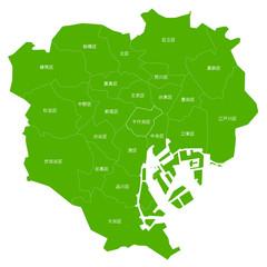 東京 23区 地図