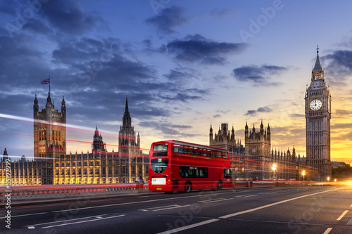 canvas print picture Abbaye de westminster Big Ben London