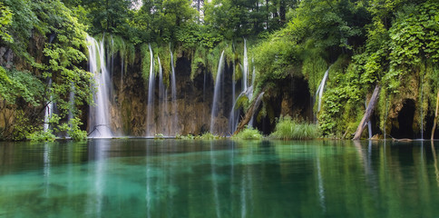TUrquoise waterfalls in Plitvice.Croatia.