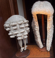 Lawyer's wigs, London, 2013