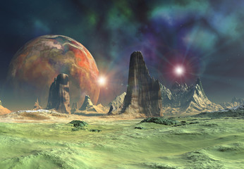 Alien Planet - 3D Rendered Computer Artwork