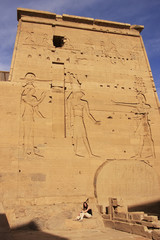 Wall carving, Philae Temple, Lake Nasser