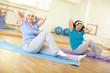 Training in gym