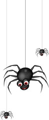 funny spider cartoon family