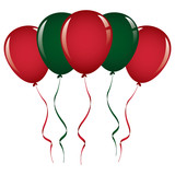 christmas balloon ribbon