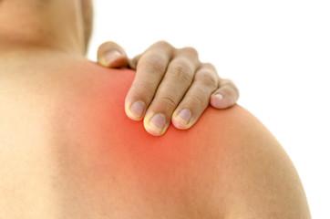 Injured shoulder