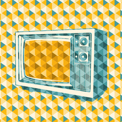 Abstraction with retro tv.
