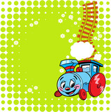 Cheerful locomotive cartoon