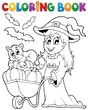 Coloring book Halloween image 2