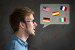 Leinwanddruck Bild - Foreign Language