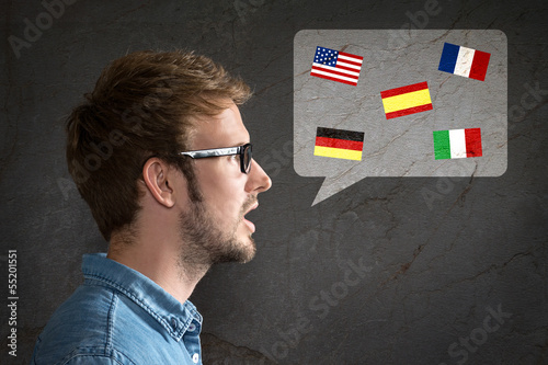 Leinwanddruck Bild Foreign Language