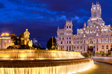 Cibeles Square at Night