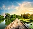 Fototapeten,landschaft,brücke,natur,rivers