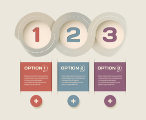 Abstract options one, two, three. Vector infographics web page.