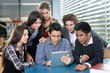 Group of teenagers with digital tablet