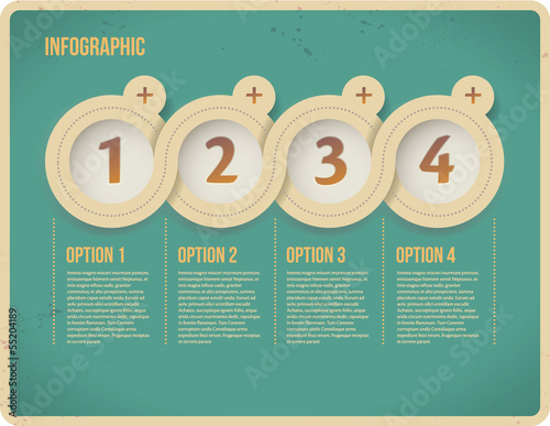 Abstract options 1, 2, 3, 4. Vector infographics web page.
