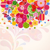 Abstract ornamental floral background.