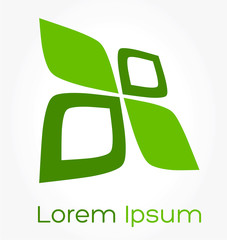 Business symbol - green leaves