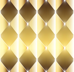 Abstract shining golden rectangles - gold vector background