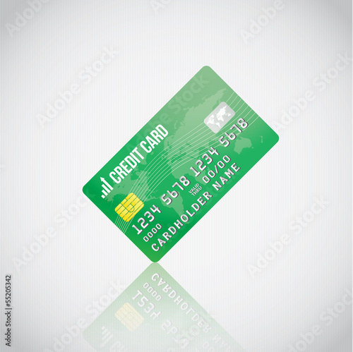 Green Vector Credit Card