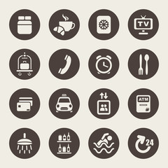 Hotel services icons