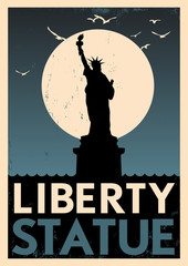 Vintage Liberty Statue Poster