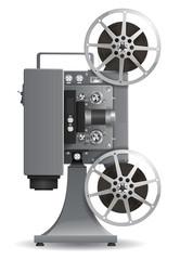 Realistic film projector