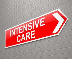 Intensive care sign.