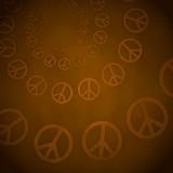 3d render of a harmful peace label  on vintage background poster