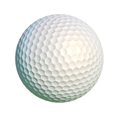 Golf ball isolated on white background.
