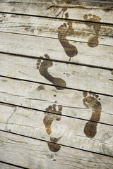 Footsteps on a pier
