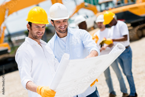 Architects at a building site