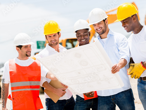 Group of workers at a construction